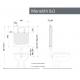 Misure cassetta incasso Kariba MONOLITH 9.0 a due volumi di risciacquo per vasi sanitari a pavimento, sospesi o alla turca