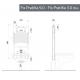 Misure modulo incasso Kariba FIX PRATIKA 9.0 a due volumi di risciacquo per vasi sanitari sospesi