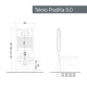 Misure modulo incasso Kariba TEKNO PRATIKA 9.0 a due volumi di risciacquo per vasi sanitari sospesi
