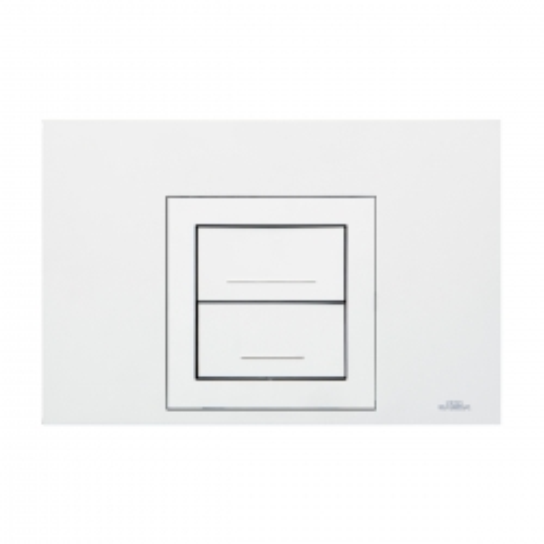 Placca di comando AUREA DUO bianca per cassette scarico WC ad incasso Kariba