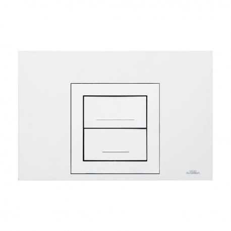 Placca di comando AUREA DUO bianca per cassette incasso Kariba