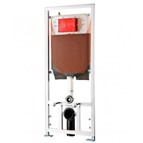 Cassetta di scarico ad incasso Kariba TEKNO PRATIKA 9.0 a due volumi di risciacquo per WC sanitari sospesi