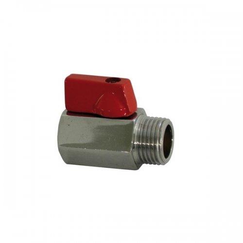Minivalvola a Sfera Maschio/Femmina maniglia in alluminio rossa