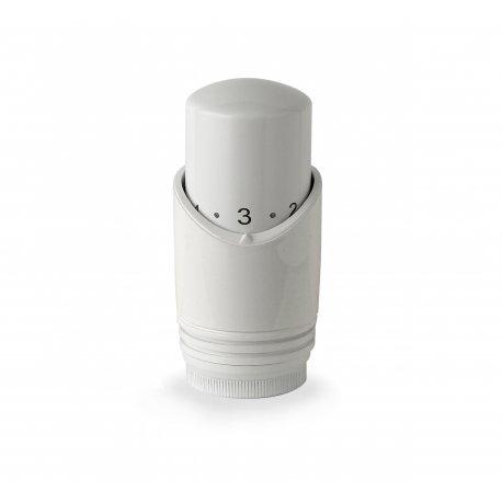Testa termostatica bianca con sensore a liquido