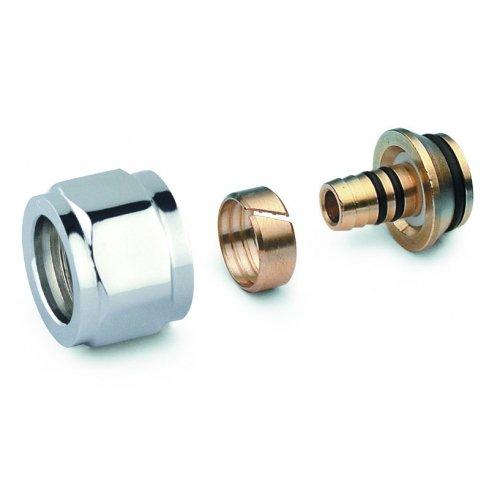 Adattatore cromato per tubo multistrato e tubo pex