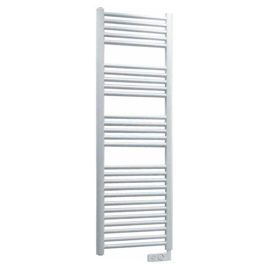 Radiatore termoarredo scaldasalviette elettrico in acciaio bianco modello cortina analogic