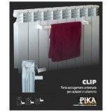 Porta asciugamani modello universale per radiatori e termoarredi in alluminio modello CLIP