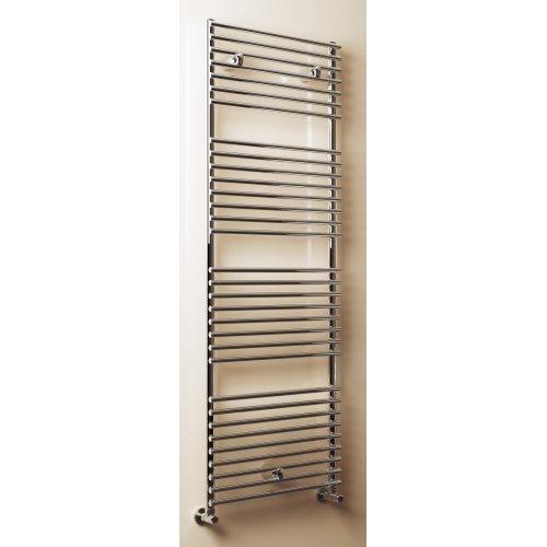 Radiatore termoarredo scaldasalviette dritto in acciaio inox lucido Cordivari, modello Leila