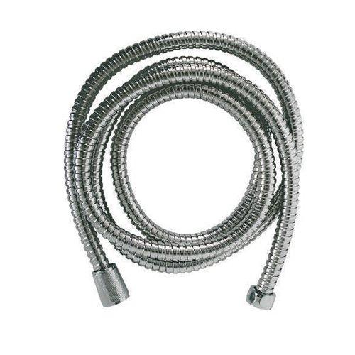 Tubo Flessibile-Estensibile doccia in acciaio inox doppia aggraffatura, attacco conico F/F da 1/2