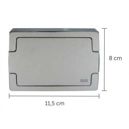 Sportello Cromato per Cassetta Incasso Ispezionabile GAS