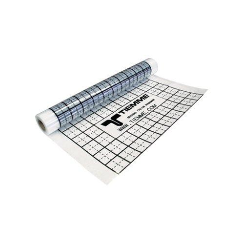 Foglio PE con funzione isolante e barriera antiumidità con passo 50 mm e multipli