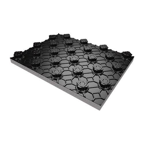 """Pannello isolante bugnato """"techno graphite"""" superficie utile di 1,12m² a pannello (prezzo a confezione)"""