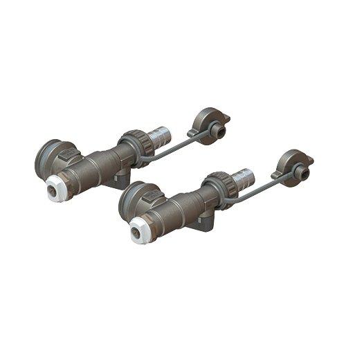 Kit terminale per collettori di distribuzione in acciaio inox