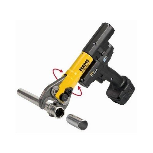 Pressatrice radiale a batteria con ritorno automatico al termine della pressatura + 3 pinze TH Ø16-20-26