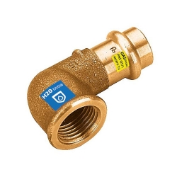 Gomito 90° Femmina a pressare in bronzo per acqua e gas