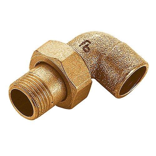 Gomito 90° Maschio a tre pezzi a saldare in bronzo per acqua e gas