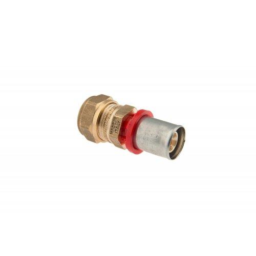 Giunzione dritta tubo multistrato/tubo rame a compressione con ogiva