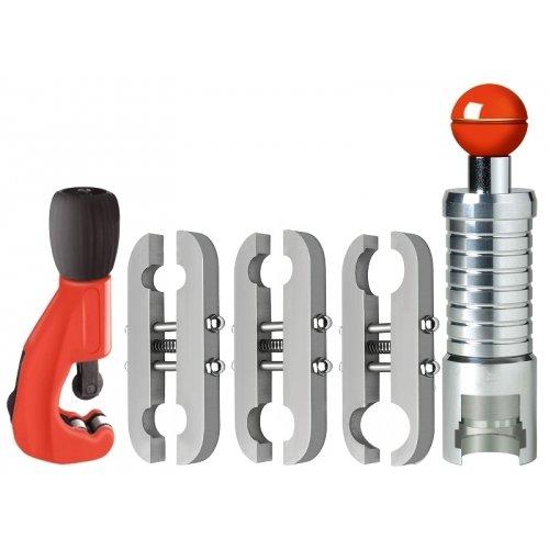 Set di flangiatura per tubi corrugati in CSST (compatibile con tubo e dadi Eurotis/Emiflex)