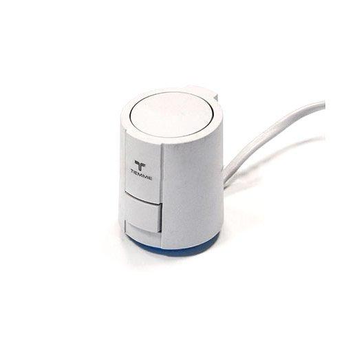 Servocomando elettrotermico per valvola di intercettazione manuale con indicazione della corsa
