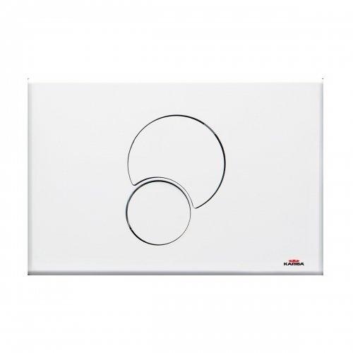 Placca di comando FIDIA DUO bianca per cassette scarico WC ad incasso Kariba
