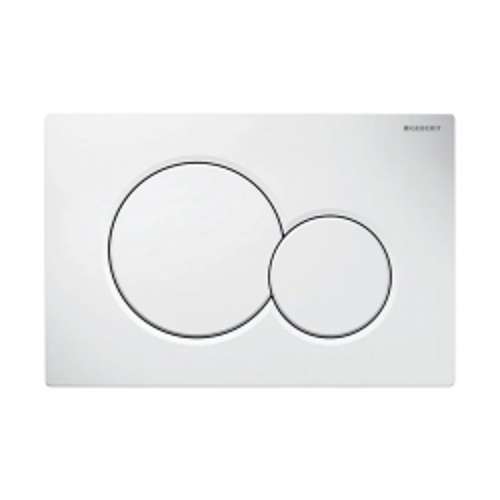 Placca di comando SIGMA01 bianca per cassetta incasso SIGMA8, COMBIFIX e DUOFIX