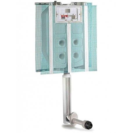 Cassetta di scarico ad incasso (Pucci Sara) risciacquo a una quantità per pareti in muratura e wc a pavimento
