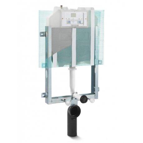Cassetta di scarico ad incasso (Pucci Eco Rapido) risciacquo a due quantità per pareti in muratura o davanti alle stesse e wc