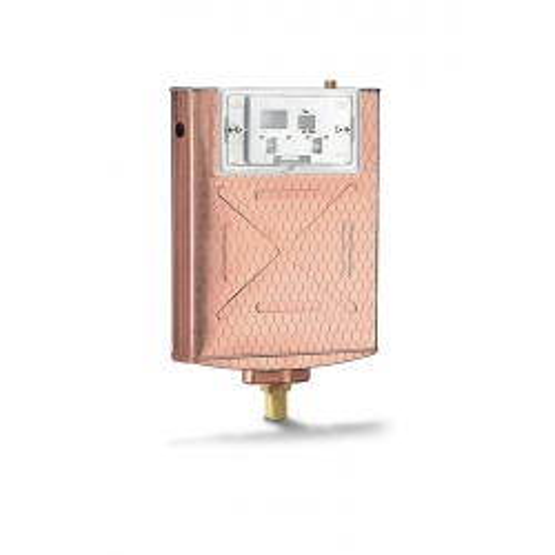 Cassetta di scarico ad incasso (Pucci Eco Rame) risciacquo a due quantità per pareti in muratura e wc a pavimento